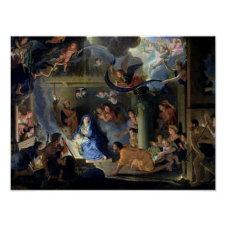 Adoration of the Shepherds, 1689 Print