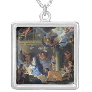 Adoration of the Shepherds, 1689 Silver Plated Necklace
