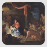 Adoration of the Shepherds, 1689 Square Stickers