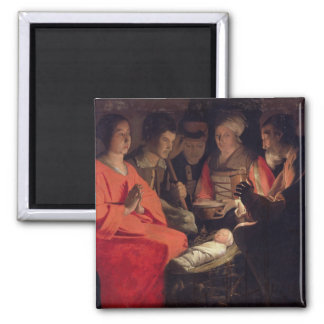 Adoration of the Shepherds 2 2 Inch Square Magnet