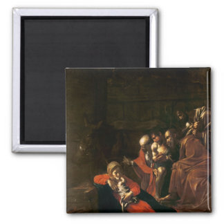 Adoration of the Shepherds 2 Inch Square Magnet