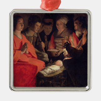 Adoration of the Shepherds 2 Metal Ornament