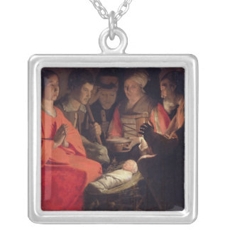 Adoration of the Shepherds 2 Silver Plated Necklace