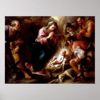 Adoration of the Shepherds - Altobello Poster