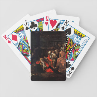 Adoration of the Shepherds by Caravaggio (1609) Bicycle Playing Cards