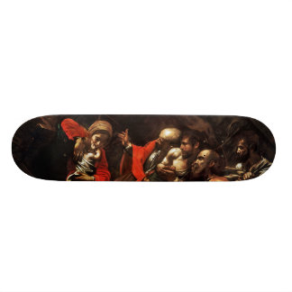 Adoration of the Shepherds by Caravaggio (1609) Skateboard Deck