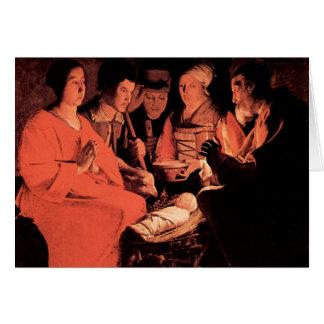 Adoration of the Shepherds by Georges de La Tour Card