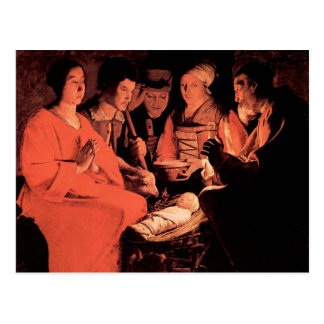 Adoration of the Shepherds by Georges de La Tour Postcard