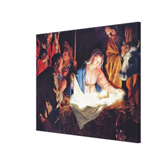 Adoration of the Shepherds by Gerard van Honthorst Canvas Print