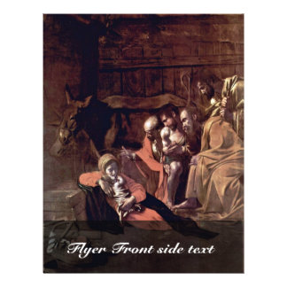 Adoration Of The Shepherds By Michelangelo Merisi Flyer
