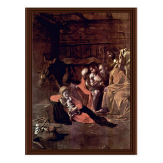 Adoration Of The Shepherds By Michelangelo Merisi Postcard