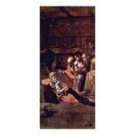 Adoration Of The Shepherds By Michelangelo Merisi Custom Rack Card