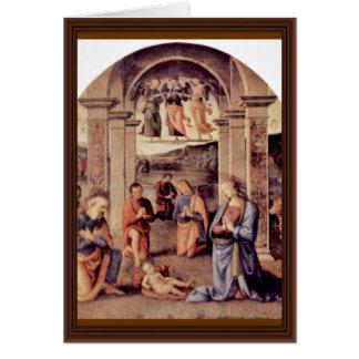 Adoration Of The Shepherds By Perugino Pietro Card