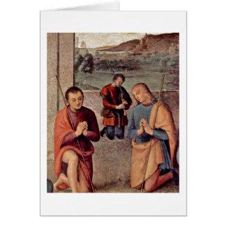 Adoration Of The Shepherds By Pietro Perugino Greeting Card