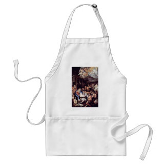 Adoration Of The Shepherds By Reni Guido Adult Apron