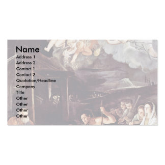 Adoration Of The Shepherds By Reni Guido Business Card Template