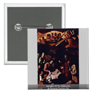 Adoration Of The Shepherds,  By Zurbarán Francisco 2 Inch Square Button