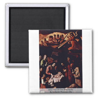 Adoration Of The Shepherds,  By Zurbarán Francisco Magnet