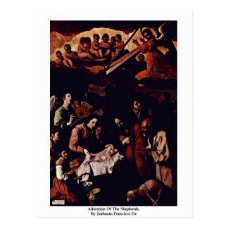 Adoration Of The Shepherds,  By Zurbarán Francisco Postcard