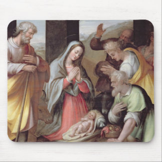 Adoration of the Shepherds, c.1500 (tempera on pan Mouse Pad