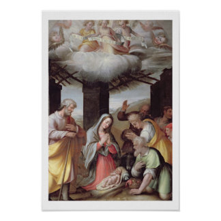 Adoration of the Shepherds, c.1500 (tempera on pan Poster