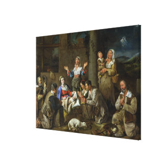 Adoration of the Shepherds, c.1659 Canvas Print