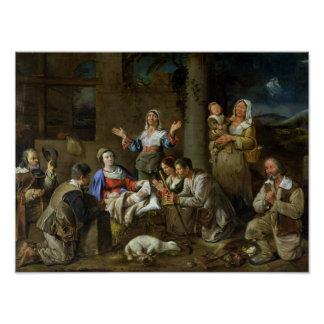 Adoration of the Shepherds, c.1659 Poster