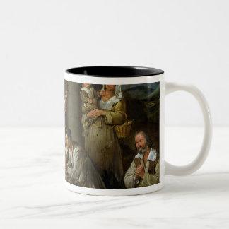 Adoration of the Shepherds, c.1659 Two-Tone Coffee Mug