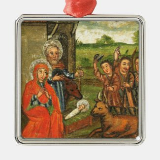Adoration of the Shepherds Christmas Ornament