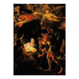 Adoration of the Shepherds Nativity Poster