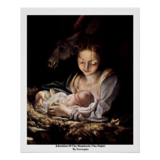 Adoration Of The Shepherds (The Night) Poster