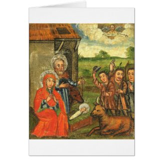 Adoration of the Shepherds Ukrainian Icon Card