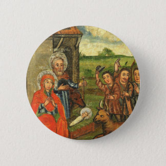 Adoration of the Shepherds Ukrainian Icon Pinback Button
