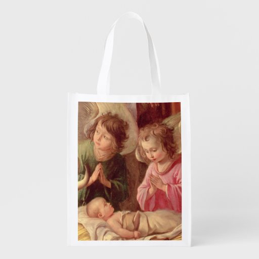 Adoration of the Shepherds Reusable Grocery Bag