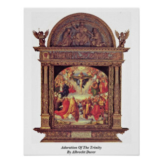 Adoration Of The Trinity By Albrecht Durer Posters