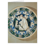 Adoration of the Virgin with St. John Greeting Card