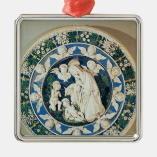 Adoration of the Virgin with St. John Metal Ornament