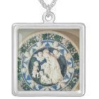 Adoration of the Virgin with St. John Silver Plated Necklace