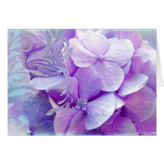 Adoration, Purple Hydrangea Greeting Card.