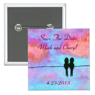 Adoration Save The Date Original Art Painting Button