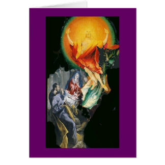 Adoration to Resurrection collage Stationery Note Card