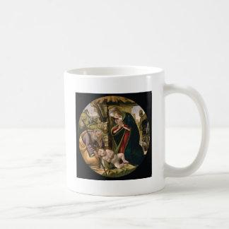 Adoration with Joseph, Mary and Baby Jesus Classic White Coffee Mug