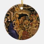 Adorazione dei Magi Double-Sided Ceramic Round Christmas Ornament