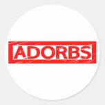 Adorbs Stamp Classic Round Sticker