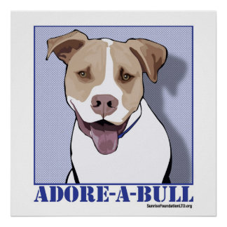 Adore-a-bull Desmond the Pit Bull Poster