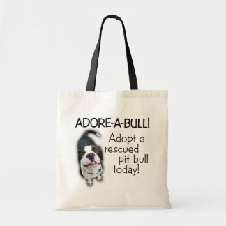 Adore-A-Bull Pit Bull! Tote Bags
