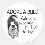 Adore-A-Bull Pit Bull! Classic Round Sticker