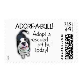 Adore-A-Bull Pit Bull! Postage