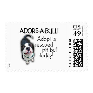 Adore-A-Bull Pit Bull! Postage Stamp