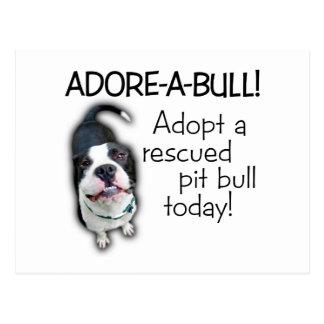 Adore-A-Bull Pit Bull! Postcard